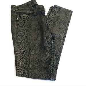 Animal Print Black Jeans